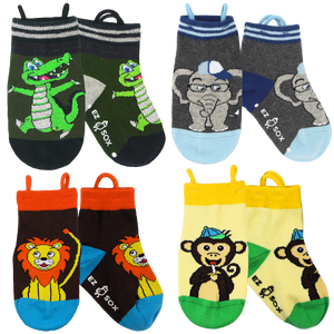 Jungle Socks-4pk