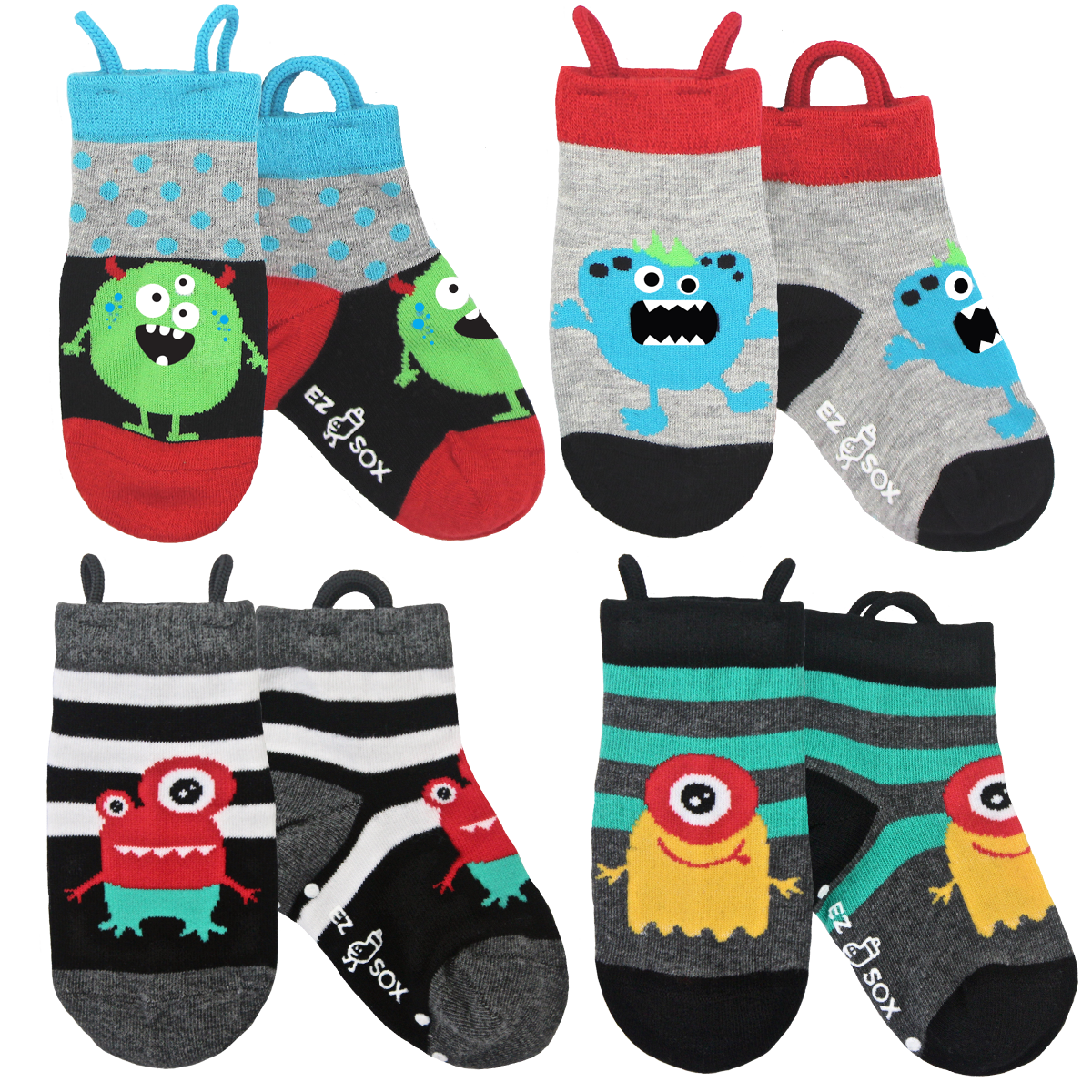 Ez Sox Monster 4 pack of socks
