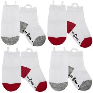 White Socks-4pk