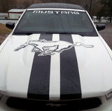 Custom Design Mustang Hood Stripes Full Horse-Stripes For Convertible
