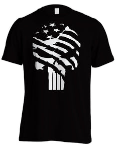 "CUSTOM PUNISHER INSPIRED SHIRT ""Grundge Flag"""
