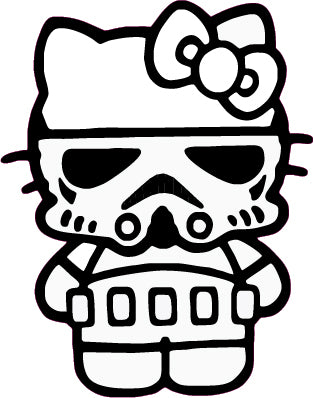 Storm Kitty Custom Storm Trooper/Hello Kitty Inspired Decal Sticker