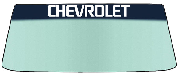 Chevrolet Vinyl Windshield Banner