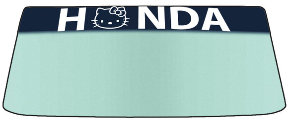 Hello Kitty Honda Vinyl Windshield Banner