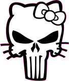 Punisher Kitty Custom Punisher/Hello Kitty Inspired Decal Sticker