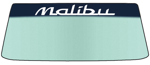 Malibu Vinyl Windshield Banner