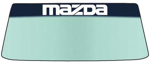Mazda Vinyl Windshield Banner