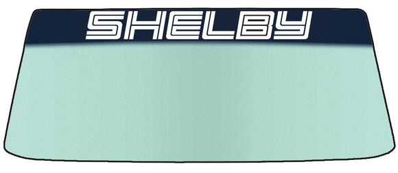 Shelby Vinyl Windshield Banner