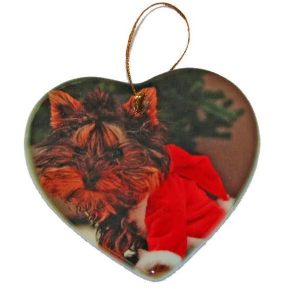 Design Your Own Personalized Ceramic Two Sided  Heart Photo Ornaments