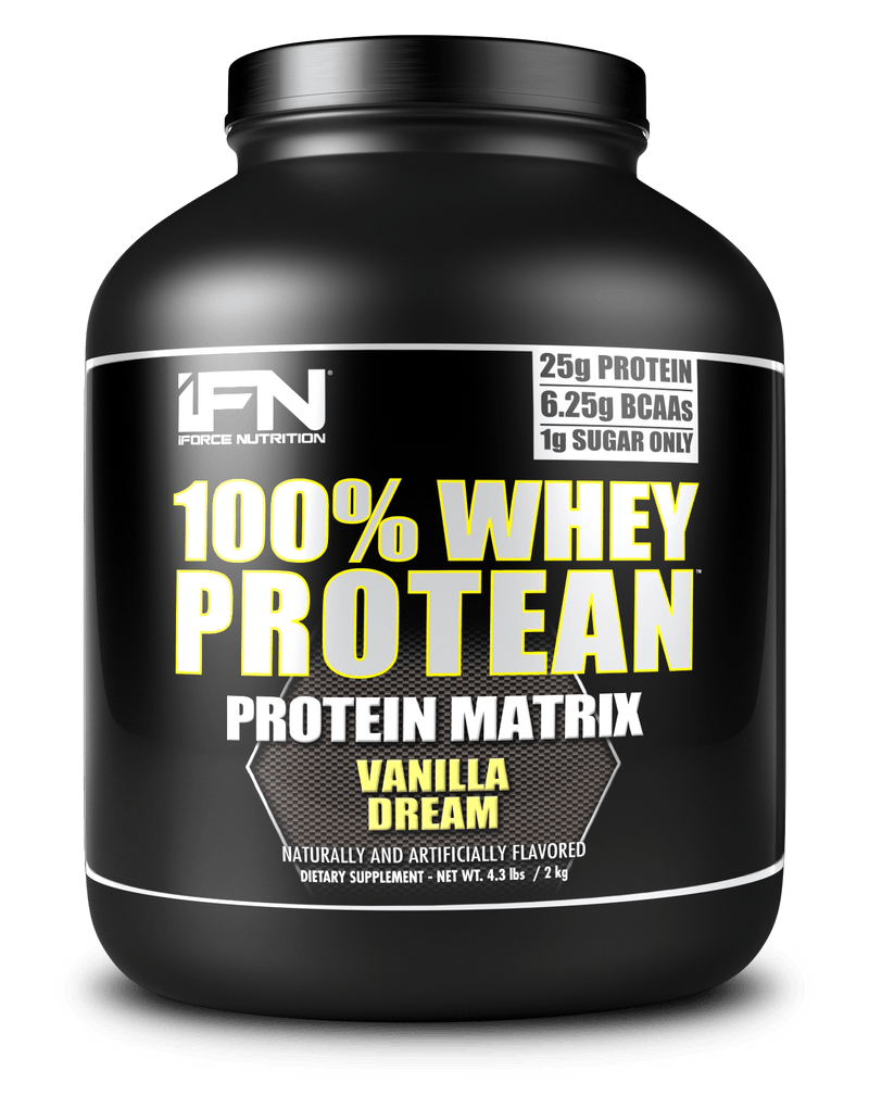 iForce Nutrition 100% WHEY PROTEAN™ Protein IFORCE 4lbs Vanilla Dream  (9797637827)