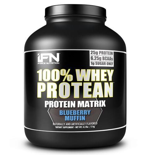 iForce Nutrition 100% WHEY PROTEAN™ Protein IFORCE 4lbs Blueberry Muffin  (9797637827)