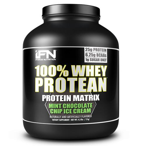 iForce Nutrition 100% WHEY PROTEAN™ Protein IFORCE 4lbs Mint Chip Ice Cream  (9797637827)