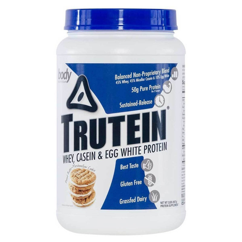 Body Nutrition Trutein 2 Lbs Protein/Protein Blends Body Nutrition Peanut Butter Marshmallow  (10944472387)