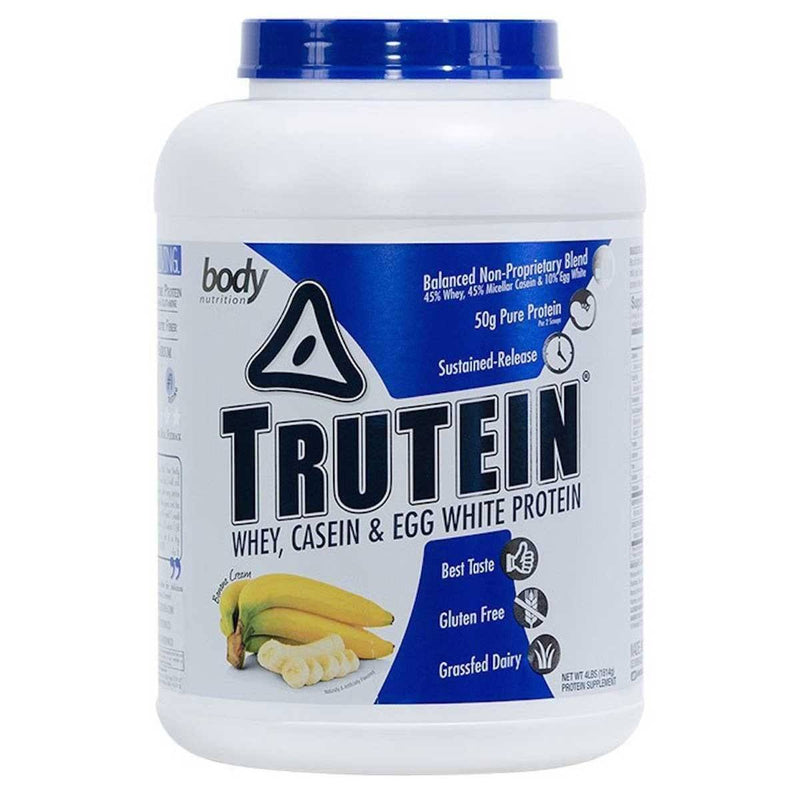 Body Nutrition Trutein 4 Lbs Protein/Protein Blends Body Nutrition Banana Cream  (10944473923)