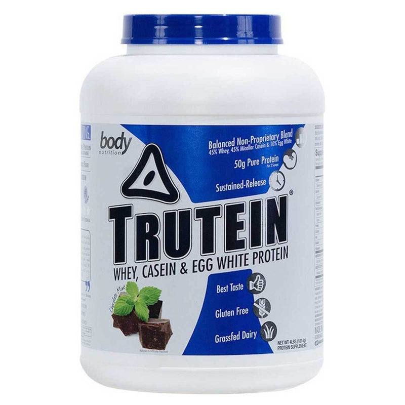 Body Nutrition Trutein 4 Lbs Protein/Protein Blends Body Nutrition Chocolate Mint  (10944473923)