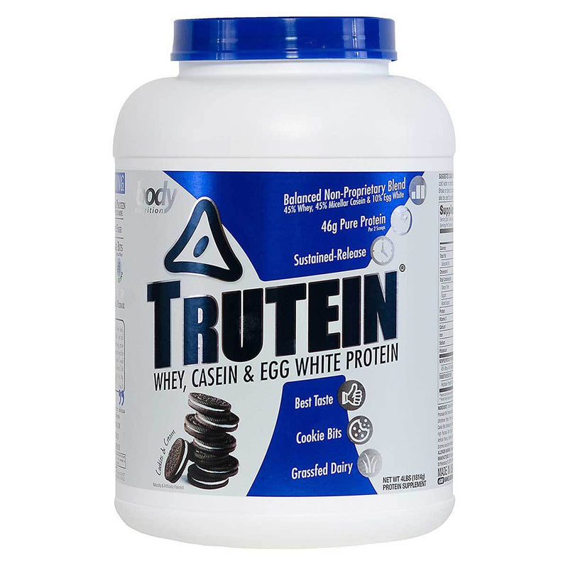 Body Nutrition Trutein 4 Lbs Protein/Protein Blends Body Nutrition Cookies & Cream  (10944473923)