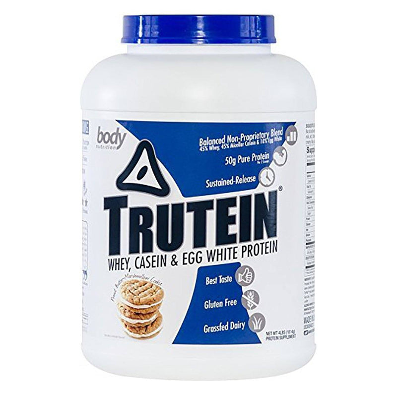 Body Nutrition Trutein 4 Lbs Protein/Protein Blends Body Nutrition Peanut Butter Marshmallow  (10944473923)