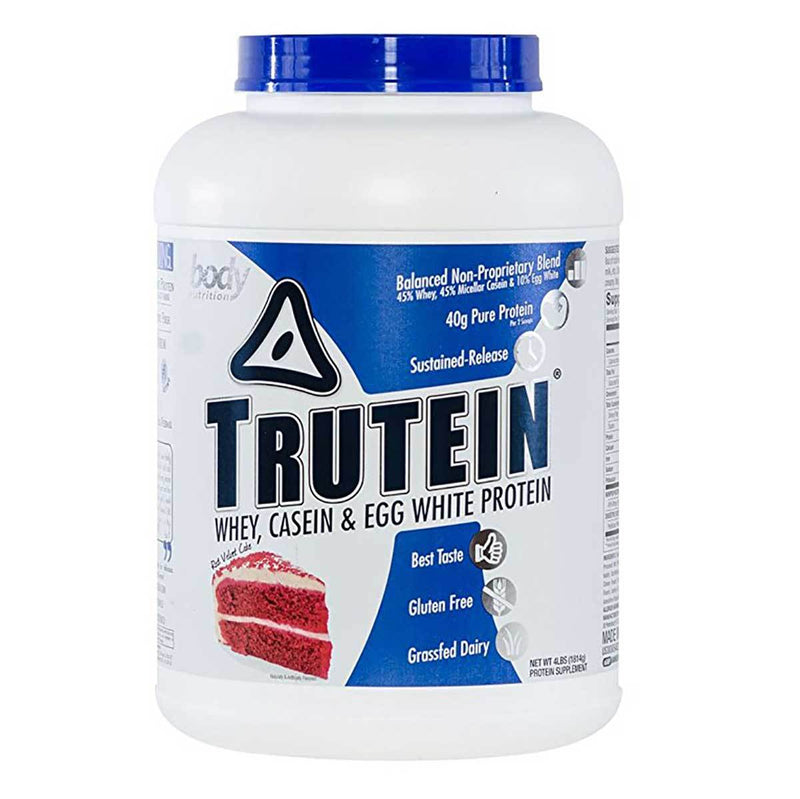 Body Nutrition Trutein 4 Lbs Protein/Protein Blends Body Nutrition Red Velvet Cake  (10944473923)