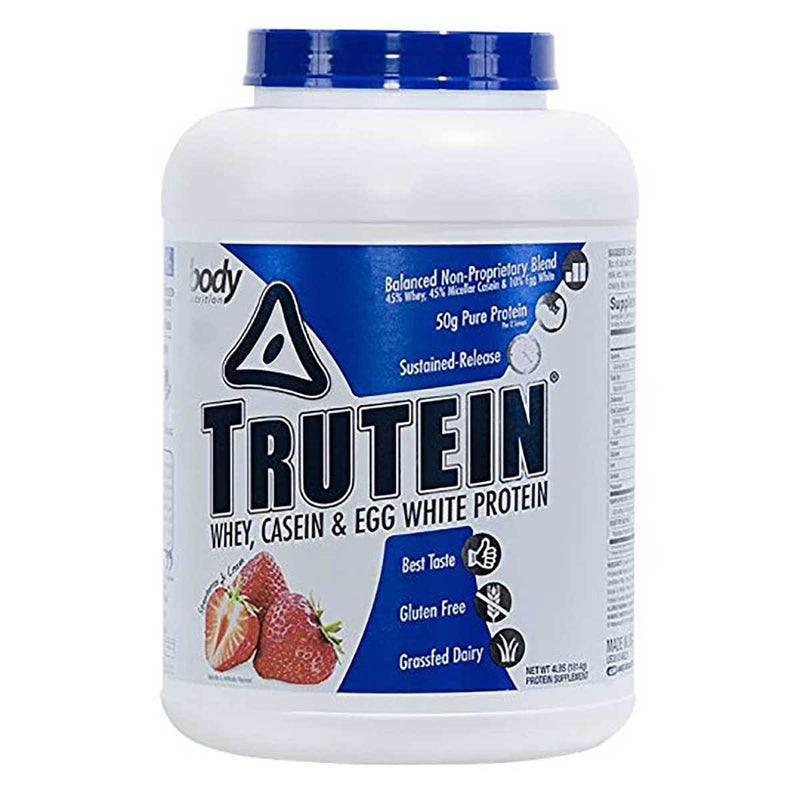 Body Nutrition Trutein 4 Lbs Protein/Protein Blends Body Nutrition Strawberries & Cream  (10944473923)