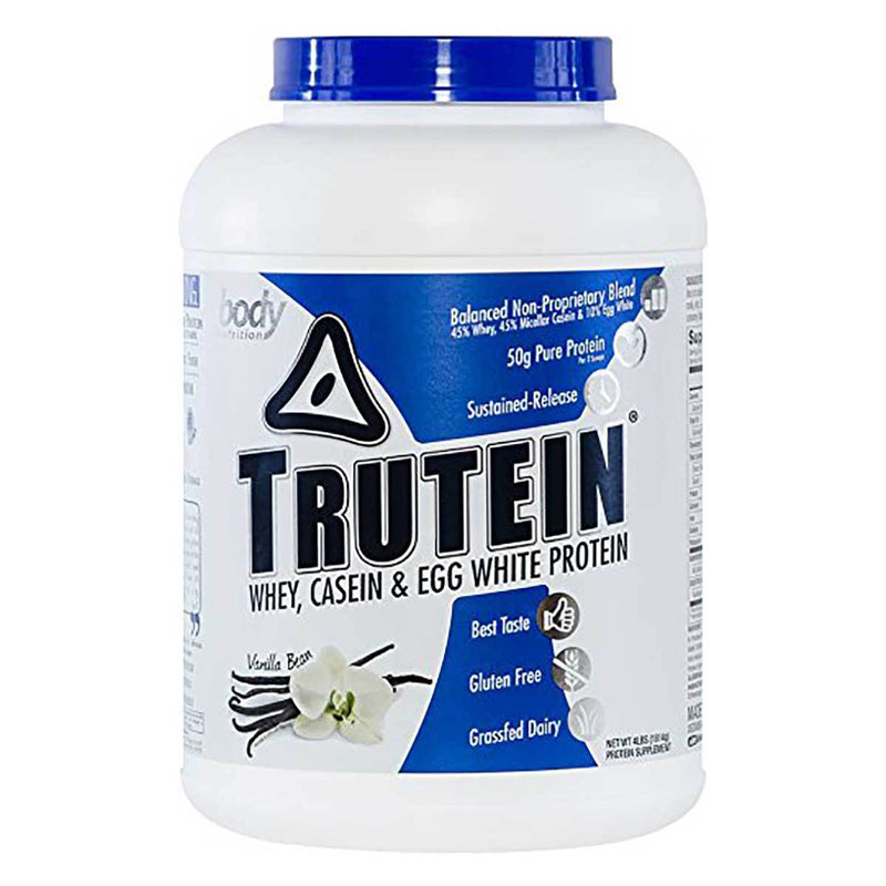 Body Nutrition Trutein 4 Lbs Protein/Protein Blends Body Nutrition Vanilla Bean  (10944473923)