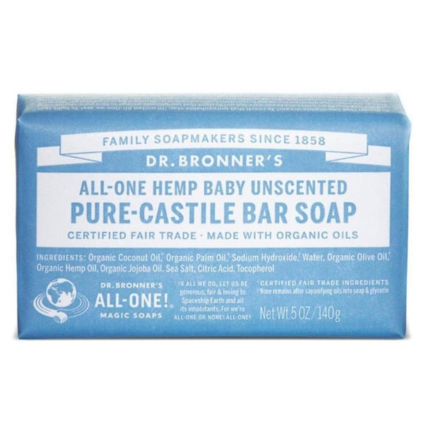 Dr. Bronner's Pure Castille Bar Soap Baby Mild 5 Oz Specialty Health Products Dr. Bronner's  (3487835947031)