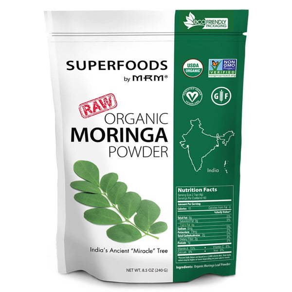MRM Raw Organic Moringa Powder 60SV Specialty Health Products MRM  (575581782049)