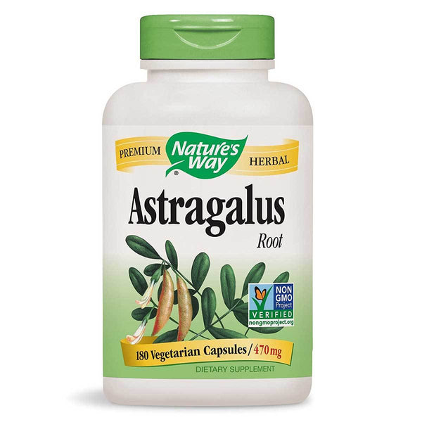 Nature's Way Astragalus Root 470mg 180C Herbs Nature's Way  (1381449990167)