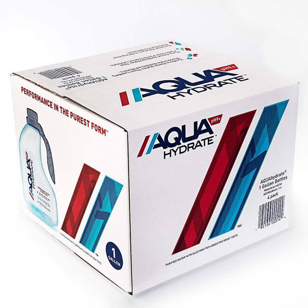 AquaHydrate Water with Electrolytes 4-1 Gallon Bottles Drinks AquaHydrate, Inc.  (1456392634391)