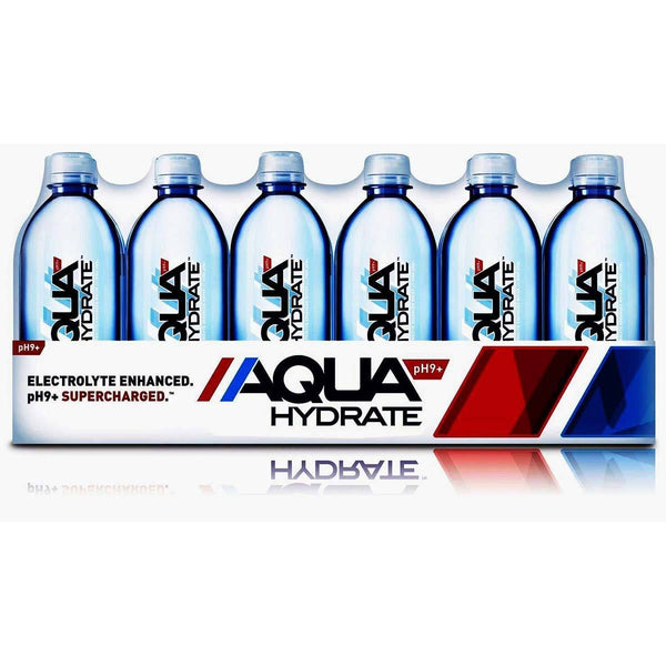 AquaHydrate Water with Electrolytes 24-16.9 fl oz Bottles Drinks AquaHydrate, Inc.  (1456390176791)