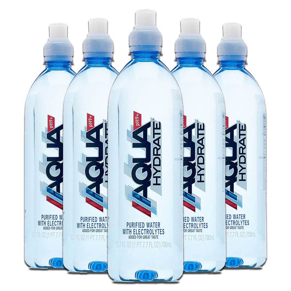 AquaHydrate Water with Electrolytes 12-700 mL Bottles Drinks AquaHydrate, Inc.  (1456387850263)