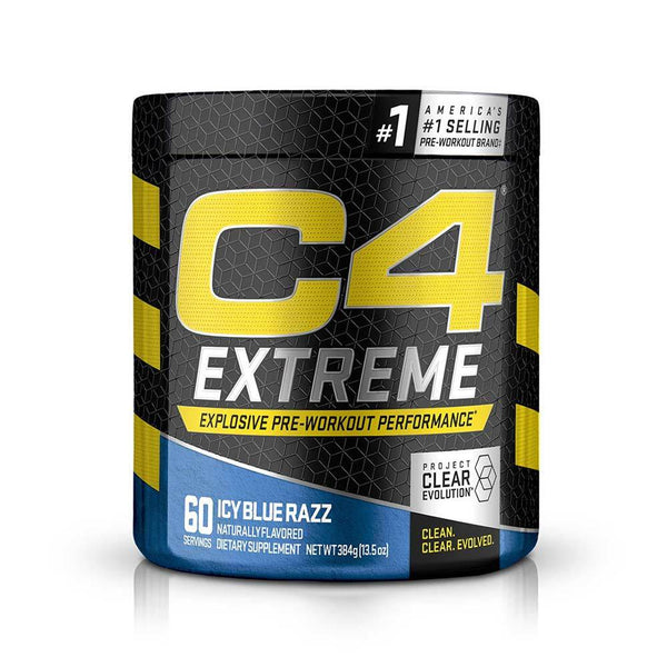 Cellucor C4 Extreme 60 Servings Pre-Workouts Cellucor Icy Blue Razz  (4336372514839)
