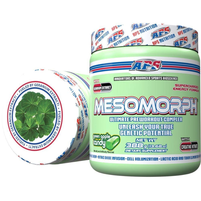 APS Nutrition Mesomorph 25 Servings (New Formula) Pre-Workout APS Nutrition Green Apple Candy  (9797598083)