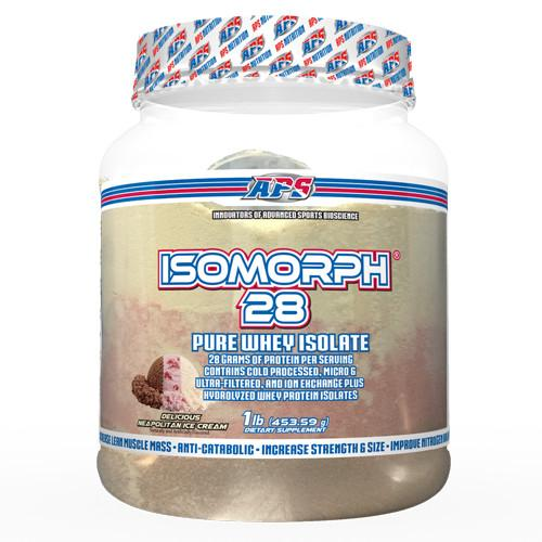 APS Nutrition Isomorph™ 28 - 1 lb. Protein APS Nutrition Neapolitan Ice Cream 1lb  (10731595843)