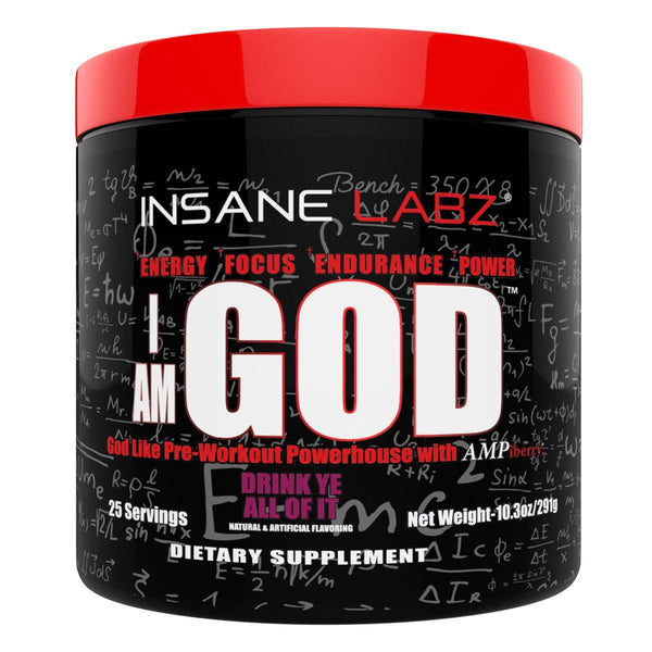 Insane Labz I am God 25 Servings Sports Performance Recovery Insane Labz Drink Ye All Of It  (1569143750679)