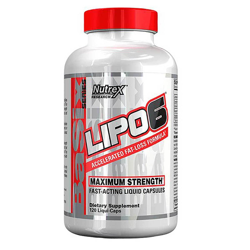 Nutrex Research Lipo 6 120 Liqui-Caps Fat Burner Nutrex Research  (1381491736599)