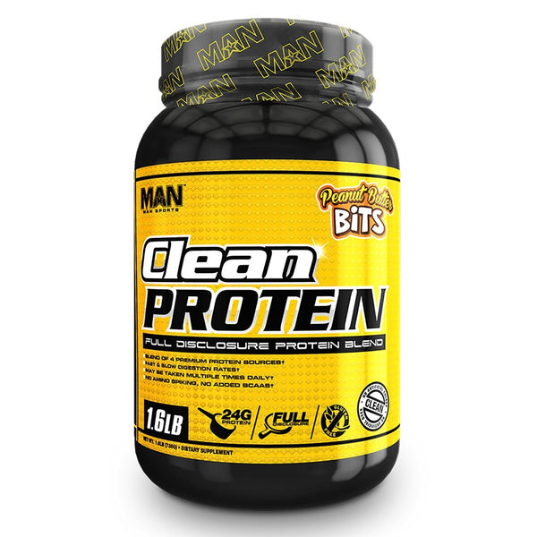 Man Sports Clean Protein 1.9lb Peanut Butter Bits 7/19 Expired MAN  (4199645544471)