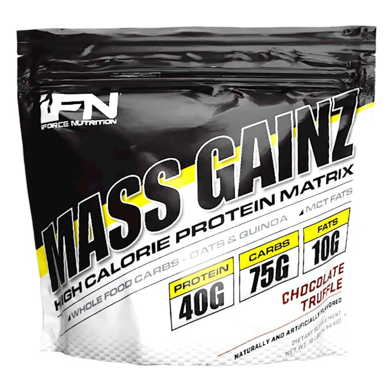 iForce Nutrition MASS GAINZ­™ Protein IFORCE 10lbs Chocolate Truffle  (9797631043)