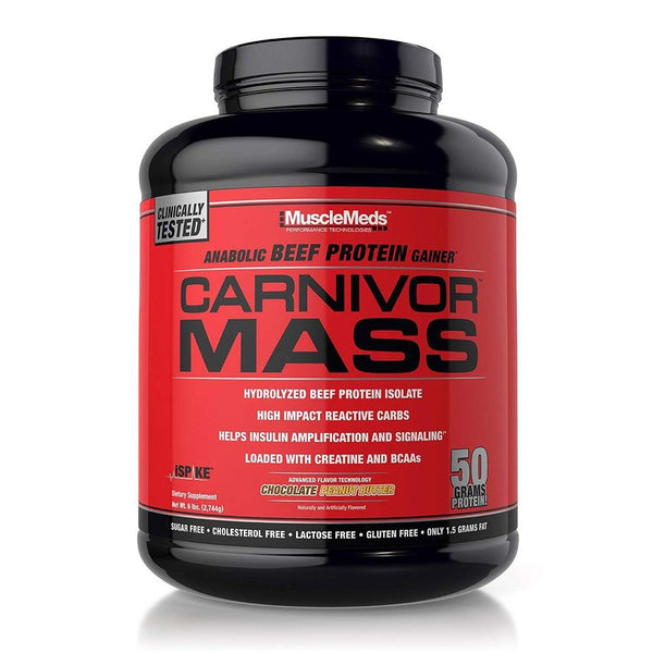Carnivor Mass 5.6 Lbs Weight Gain MuscleMeds Chocolate Peanut Butter  (1470644224023)