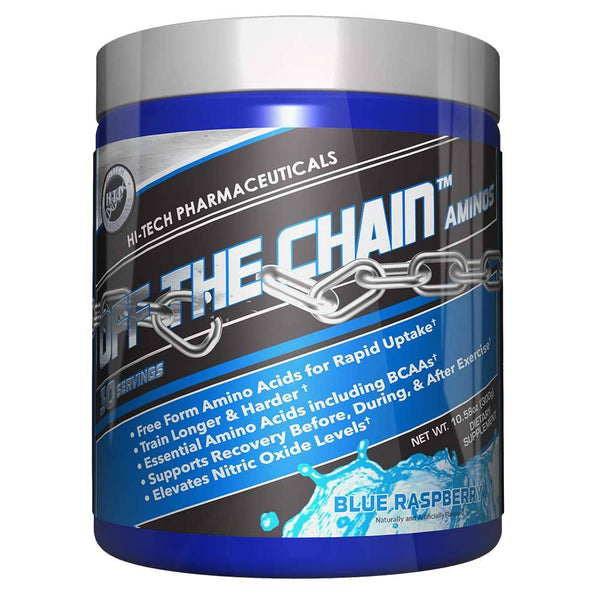 Hi-Tech Pharmaceuticals Off the Chain® BCAAs Hi-Tech Pharmaceuticals Blue Raspberry 30 Serving  (9797547907)