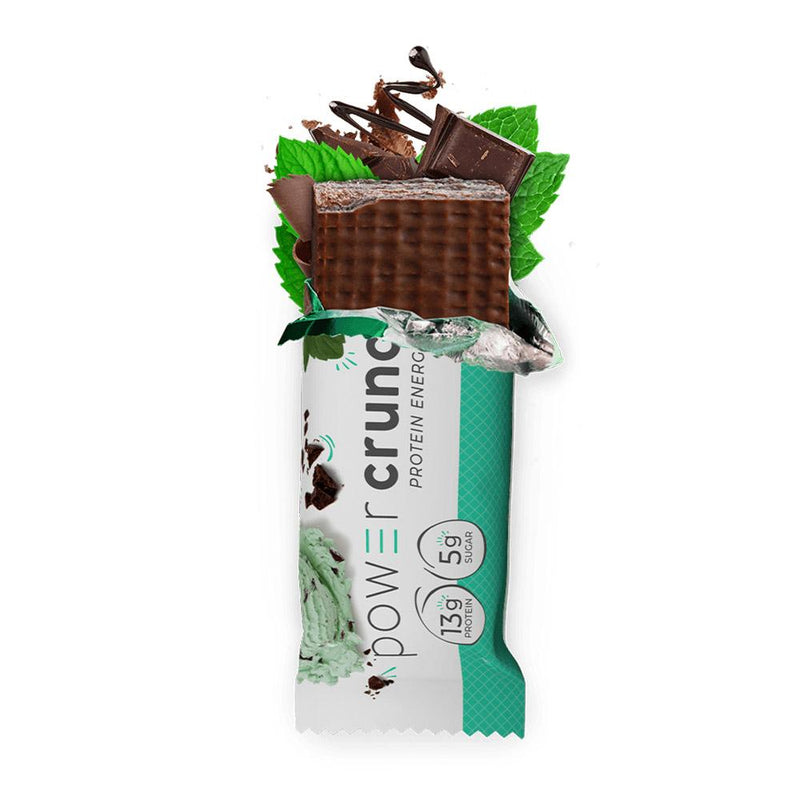 Power Crunch Wafers 12/Box Bars Bionutritional Research Group Chocolate Mint  (1471172247575)