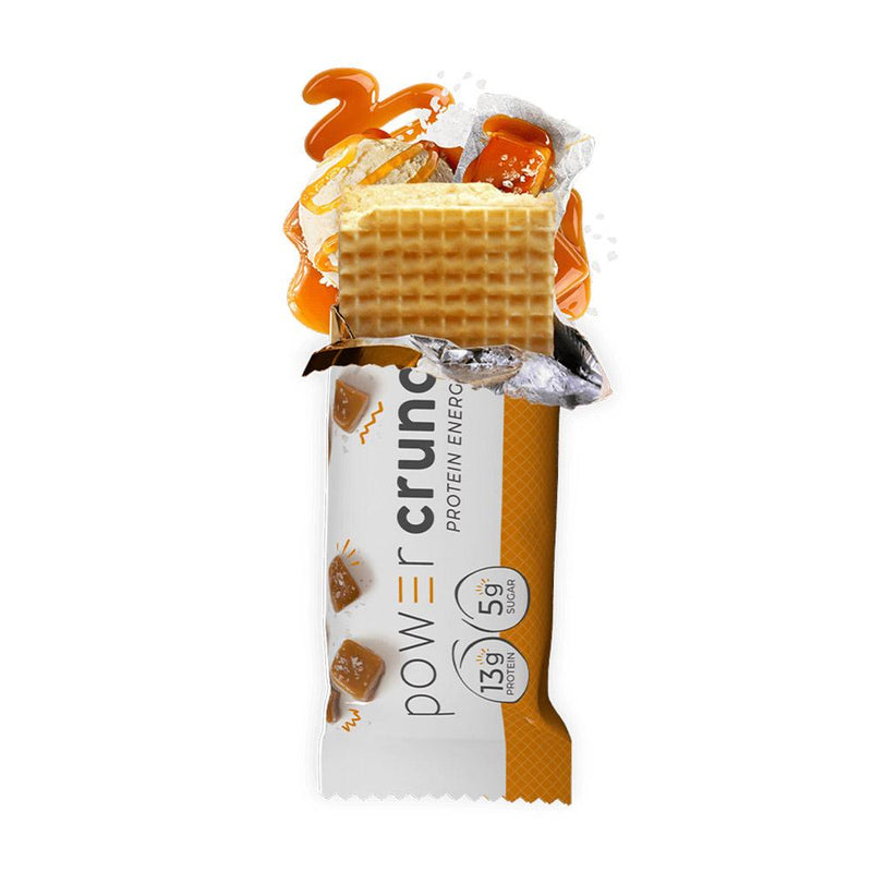 Power Crunch Wafers 12/Box Bars Bionutritional Research Group Salted Caramel  (1471172247575)