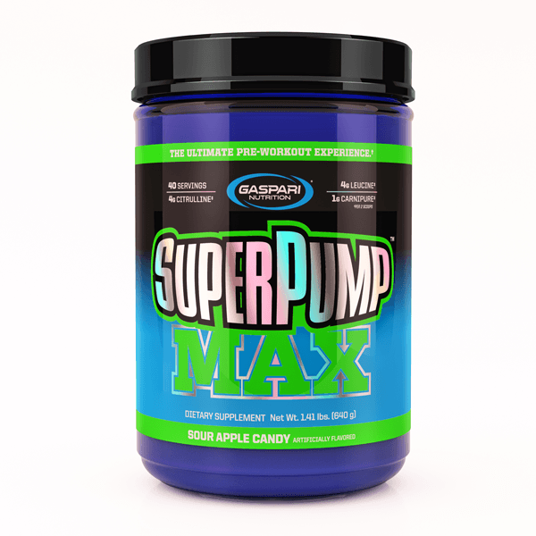 Gaspari Nutrition Super Pump MAX Pre-Workout Gaspari Nutrition Sour Apple Candy 40 SVG  (9801675267)