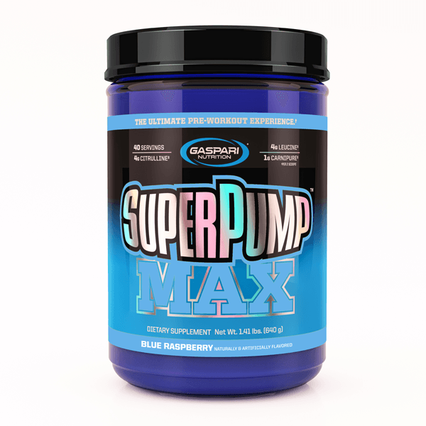 Gaspari Nutrition Super Pump MAX Pre-Workout Gaspari Nutrition Blue Raspberry 40 SVG  (9801675267)