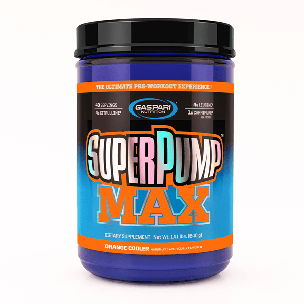 Gaspari Nutrition Super Pump MAX Pre-Workout Gaspari Nutrition Refreshing Orange 40 SVG  (9801675267)