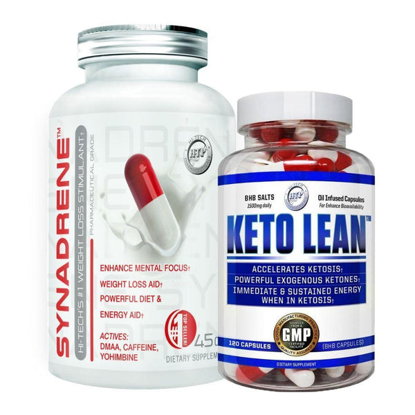 Hi-Tech Pharmaceuticals Synadrene & Keto Lean Stack Stacks Hi-Tech Pharmaceuticals  (4333247758359)