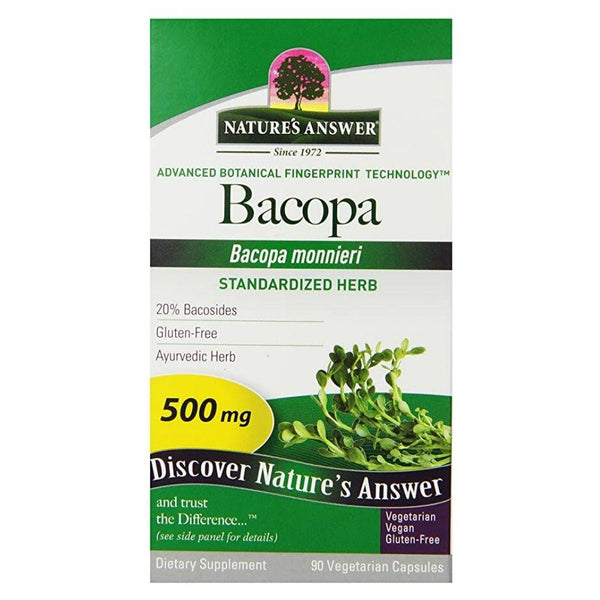 Nature's Answer Bacopa 500mg 90 Caps 01/20 Expired Nature's Answer  (4393627713559)