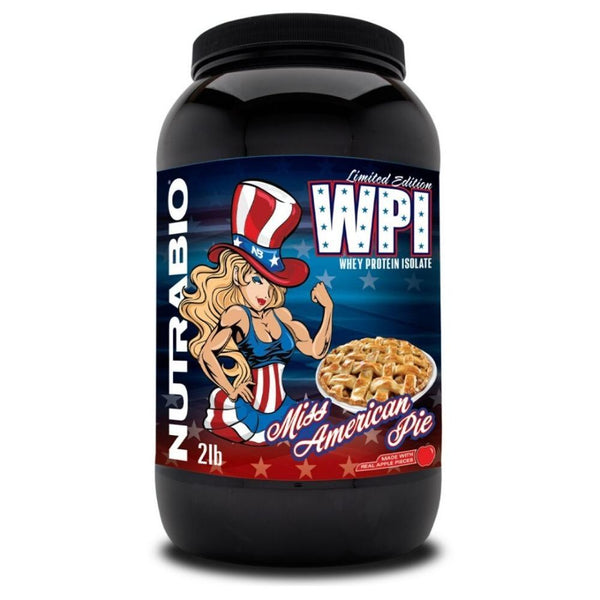NutraBio 100% Whey Protein Isolate 2lb Protein Powders NutraBio Miss American Pie  (4352171966487)