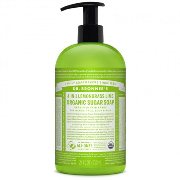 Dr. Bronner's Sugar Body Soap Lemon Lime 24 Oz Personal Care& - Hygeine Dr. Bronner's  (3488721928215)