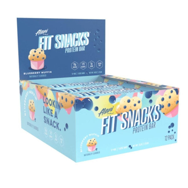 Alani Nu Fit Snacks 12/Box Bars Alani Nu Blueberry Muffin  (4487313195031)