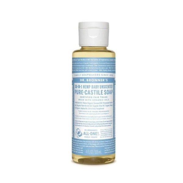 Dr. Bronner's Pure Castille Liquid Baby Mild Soap 4 Oz Specialty Health Products Dr. Bronner's  (3487841910807)
